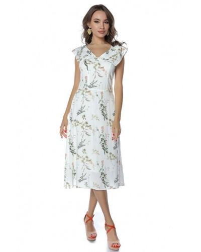 Rochie midi cu print floral Midsummer